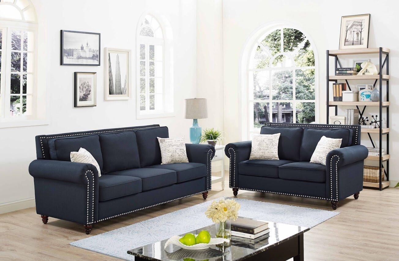 Alcott Hill Connelly 2 Piece Living Room Set & Reviews | Wayfair