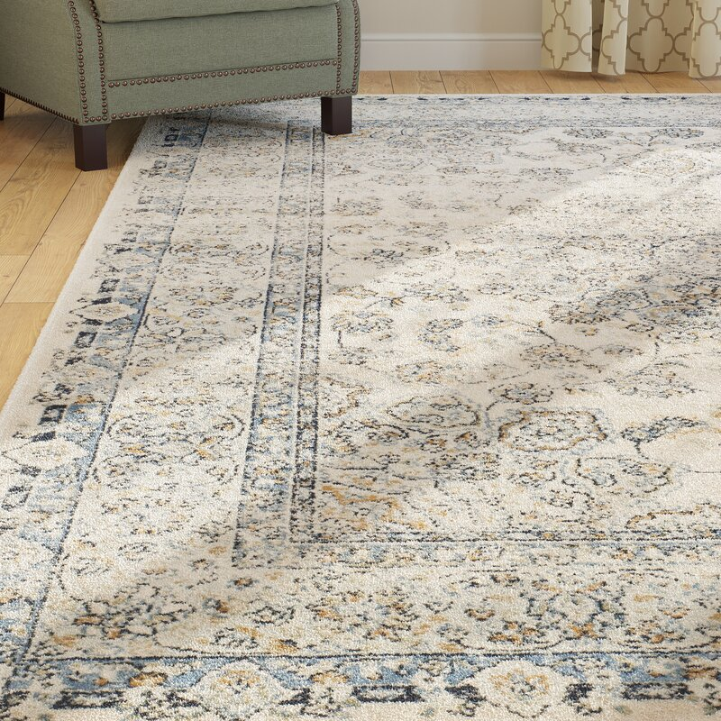 Darby Home Co Persian Garden Vintage Ivory/Light Blue Area