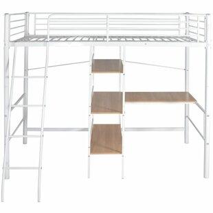 Jason High Single High Sleeper with Desk Shelves by Viv   Rae