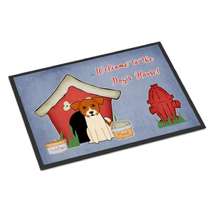 Dog House Jack Russell Terrier Doormat