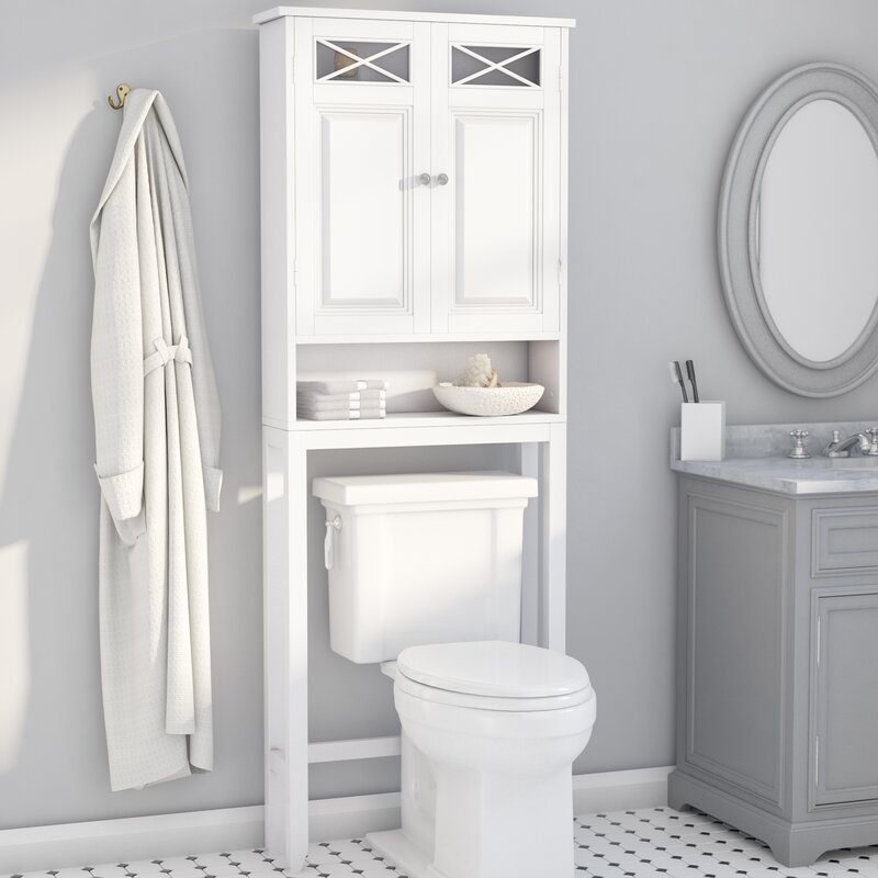 bathroom cabinets over toilet darby home co coddington 25 quot w x 68 quot h the toilet 15650
