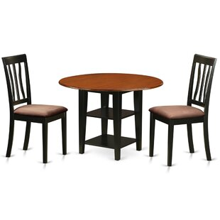 Tyshawn 3 Piece Drop Leaf Breakfast Nook Solid Wood Dining Set Comparison