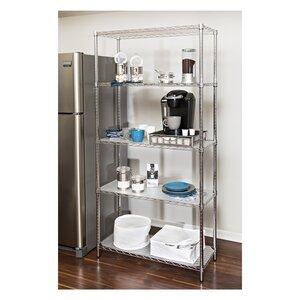 Wayfair Basics 5 Shelf Steel Shelving Unit