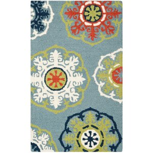 Barnett Hand-Tufted Blue Area Rug