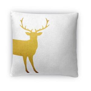 Lone Deer Fleece Throw Pillow