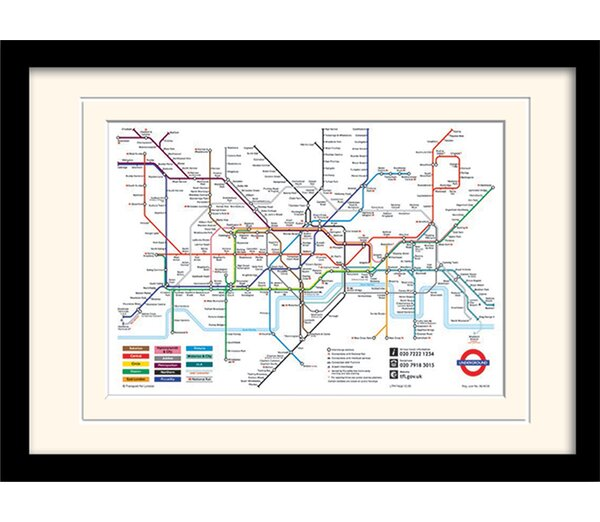 Riley Ave. London Underground Map Framed Graphic Art Print & Reviews ...