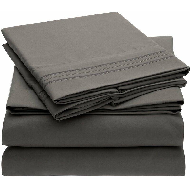 Mellanni Fine Linens 1800 Thread Count 100 Brushed Microfiber Sheet Set Reviews Wayfair Ca