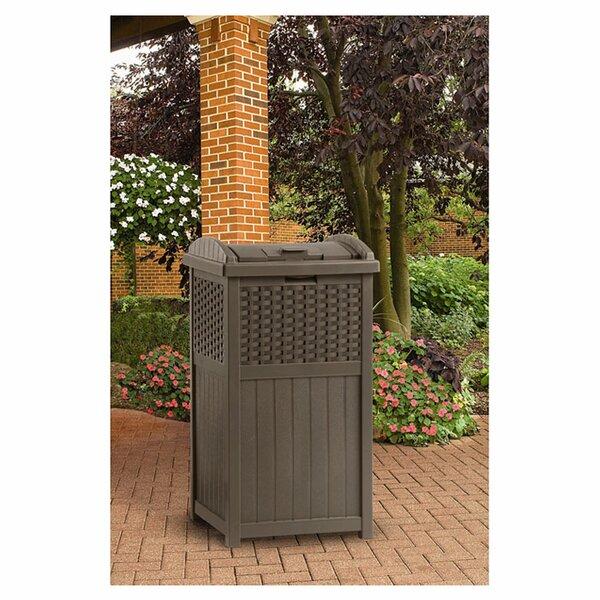 Outdoor Patio Trash Bin | Wayfair
