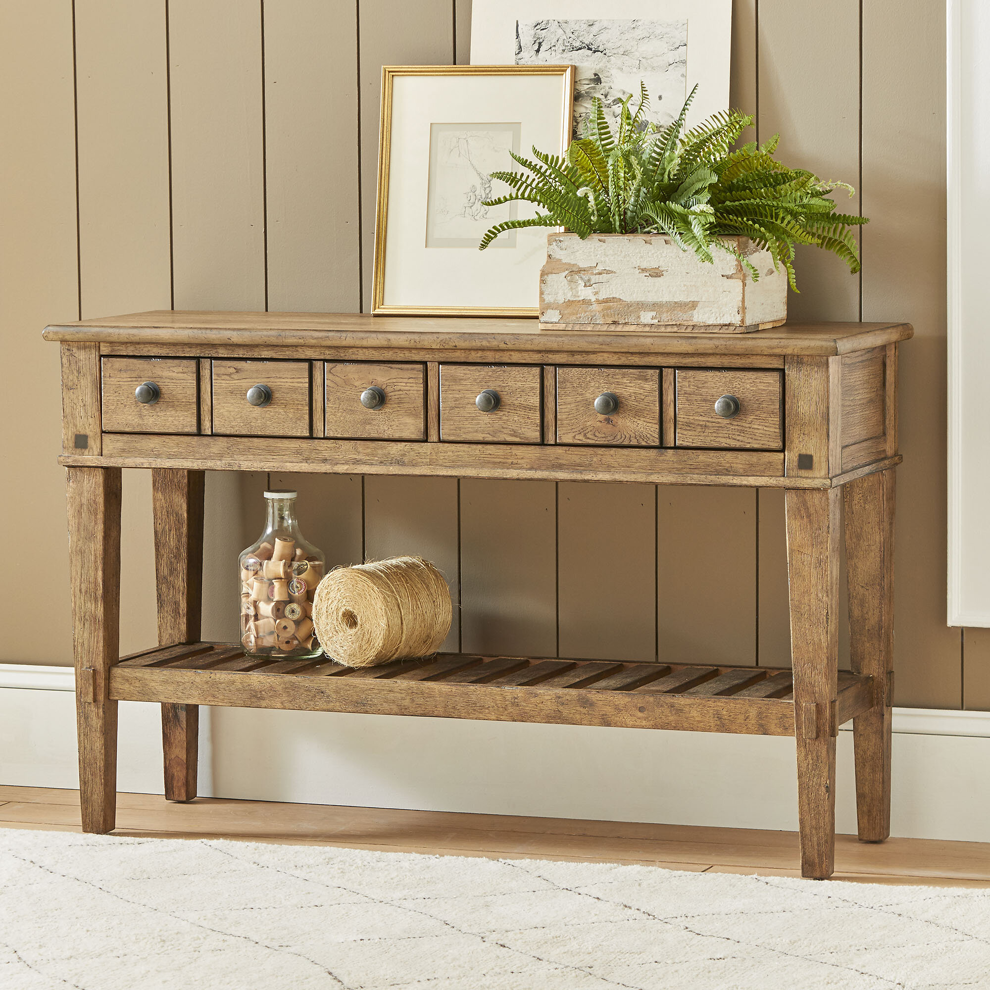 Console tables with drawers and shelves for Table 85 address