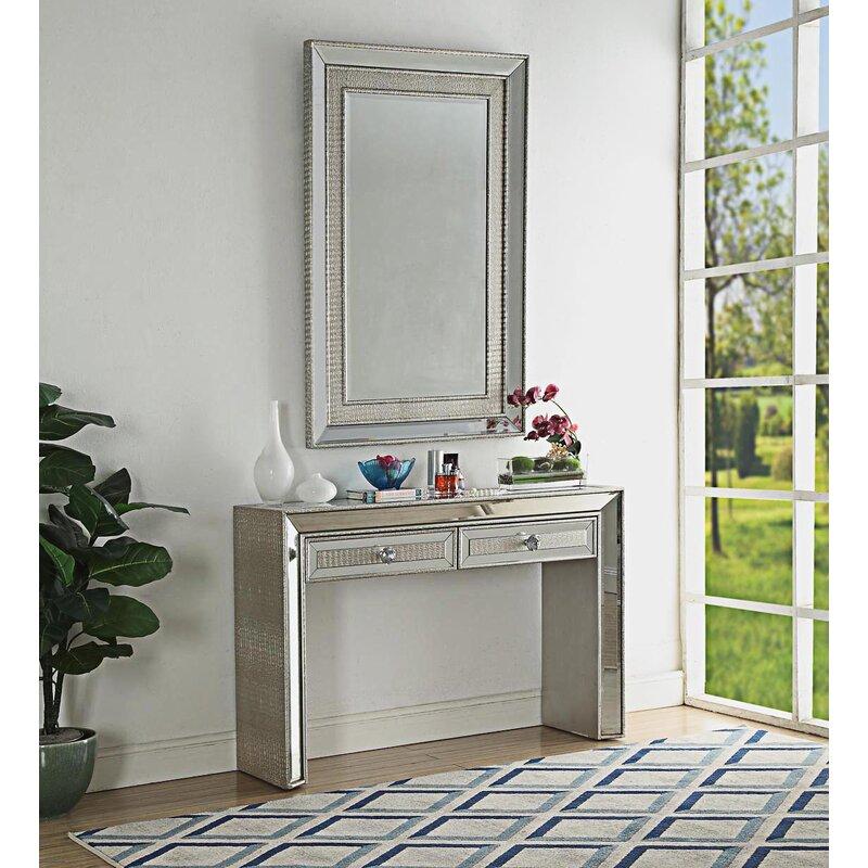 Rosdorf Park Mooney Console Table And Mirror Set Wayfair