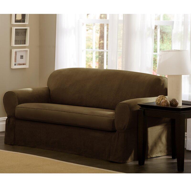 Maytex Box Cushion Sofa Slipcover Amp Reviews Wayfair