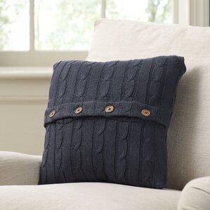 cableknit 100 cotton throw pillow