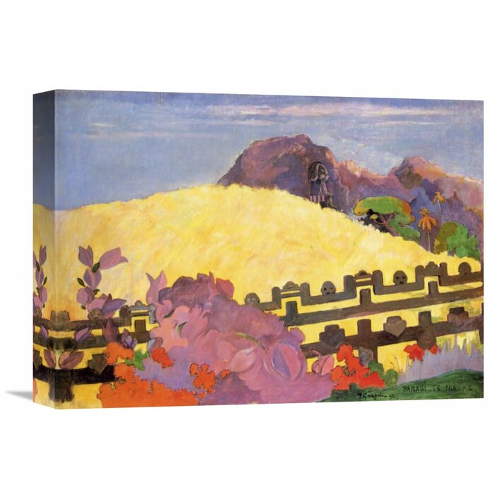'There is The Temple' by Paul Gauguin Painting Print on Wrapped Canvas