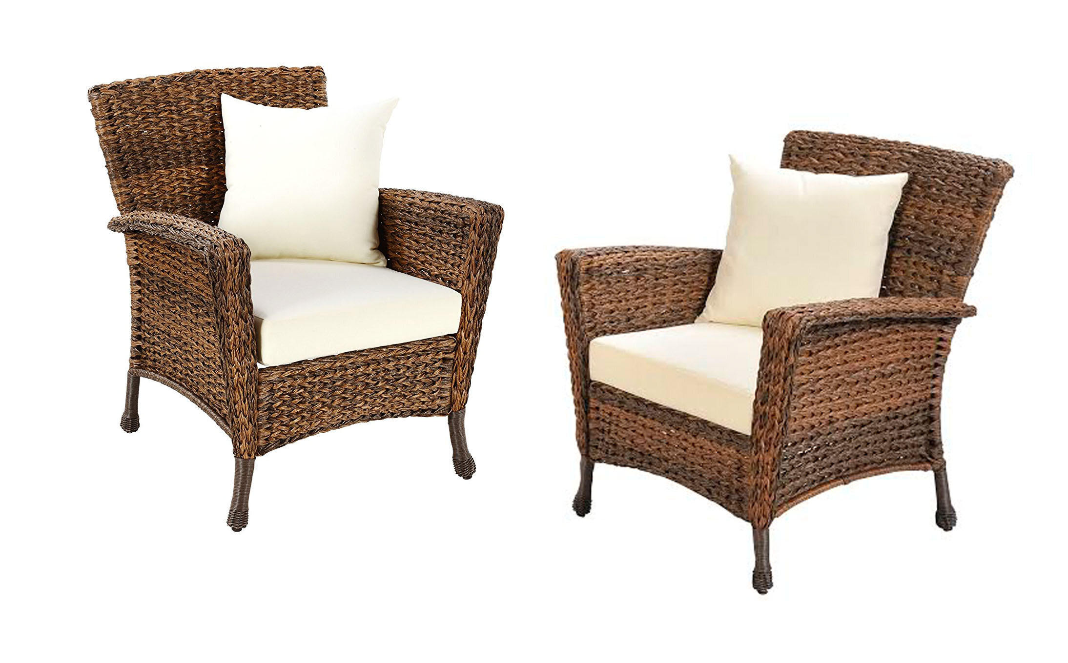 August Grove Rumsey Garden Patio Furniture 2 Piece With Cushions Wayfair
