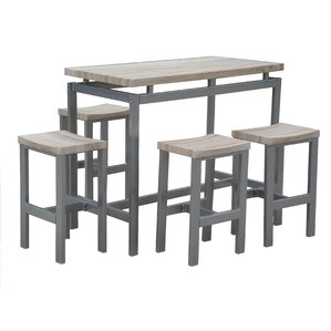 marino 5 piece pub table set