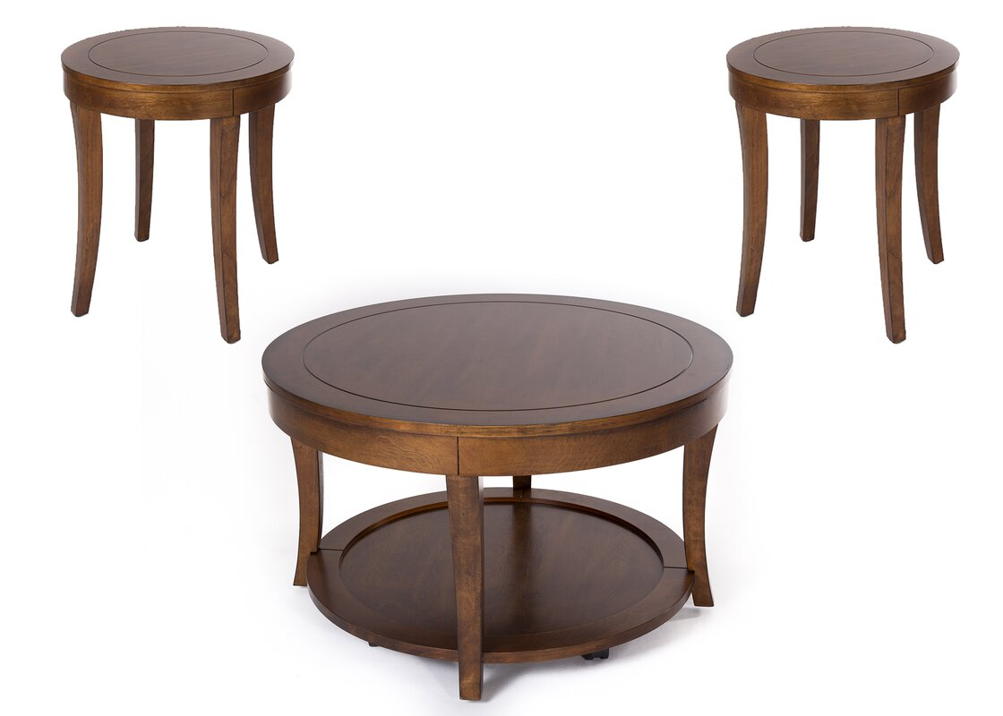 Darby home co locke 3 piece coffee table set reviews for Coffee tables 3 piece