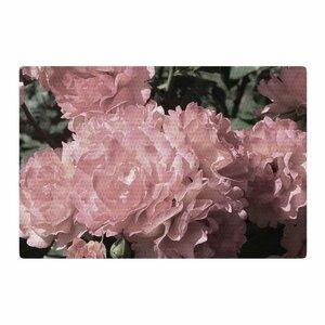 Susan Sanders Blush Flowers Floral Photography Pink Area Rug
