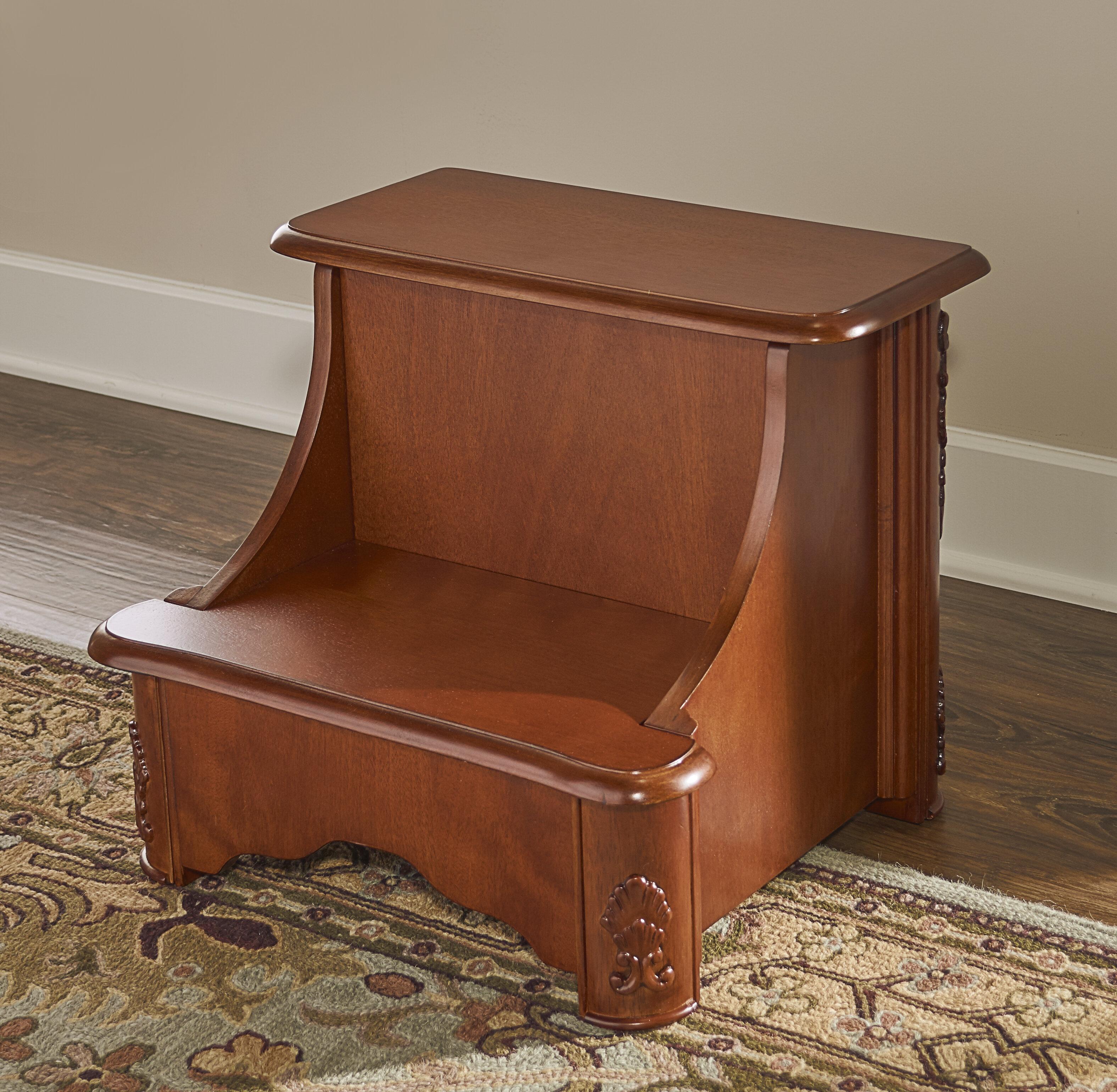 Bon Powell Woodbury Mahogany 2 Step Manufactured Wood Bed Step Stool With 200  Lb. Load Capacity U0026 Reviews   Wayfair