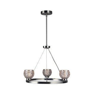Crystal ball chandelier wayfair sadowski modern crystal ball 3 light wagon wheel chandelier aloadofball Images