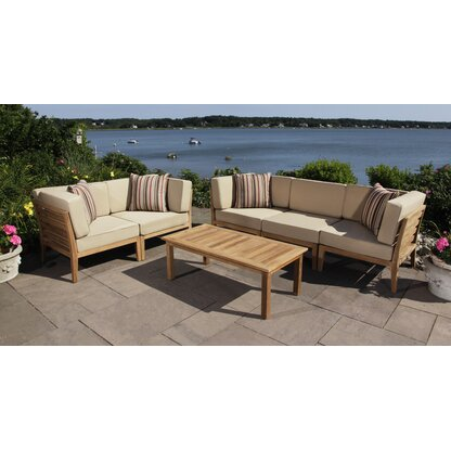 Excellent Luxury Made Of Teak Outdoor Sofa Sets Perigold Download Free Architecture Designs Sospemadebymaigaardcom