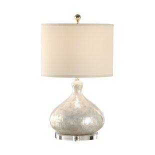 Capiz shell lamp wayfair capiz shell bottle 24 table lamp aloadofball Images