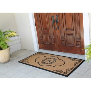 Issac First Impression Hand Crafted X Large Abrilina Entry Coir Monogrammed  Double Doormat