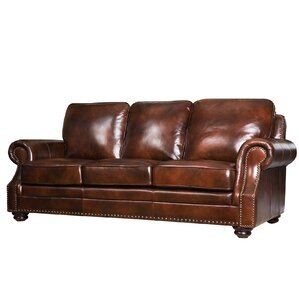 Barrview Leather Sofa by Darby Home Co