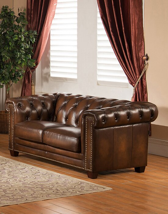 Amax Hickory 2 Piece Leather Living Room Set Reviews