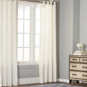Baremeadow Solid Sheer Grommet Single Curtain Panel