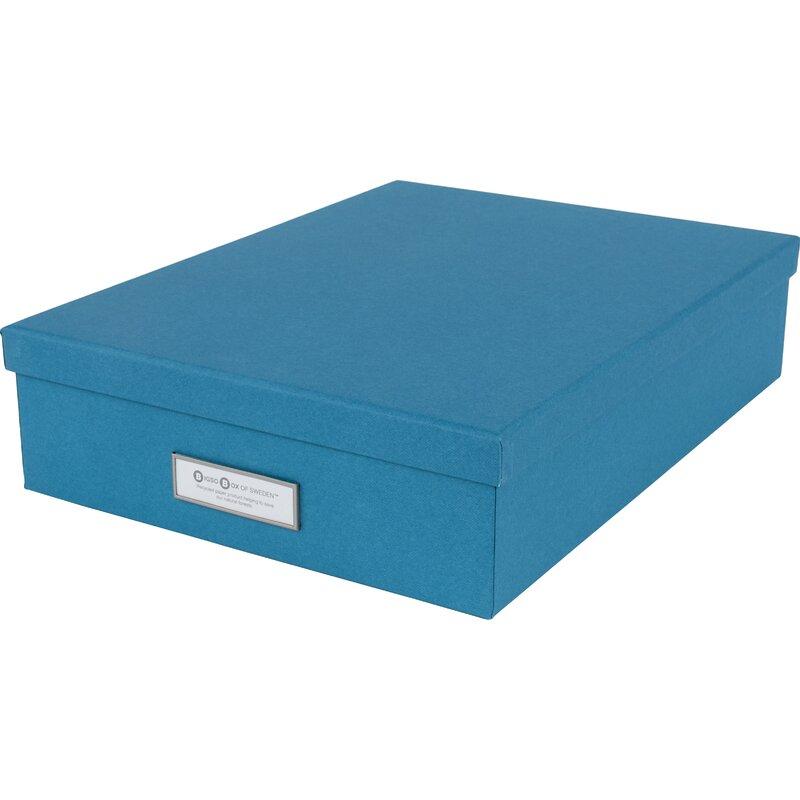 Office Storage Supplies Bigso Oskar Canvas Letter Storage Box Blue
