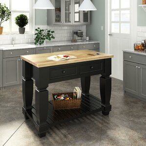 Chelsea Kitchen Island with Wood Top by L..