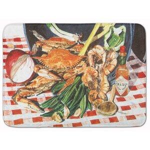 Crab Boil Memory Foam Bath Rug