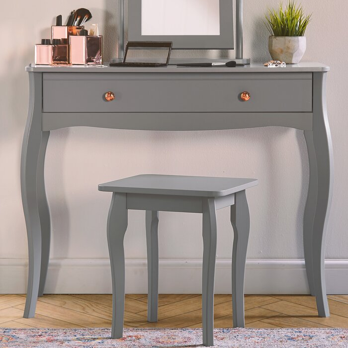 48851fe3705d Brambly Cottage Churchill Dressing Table Set with Mirror & Reviews |  Wayfair.co.uk