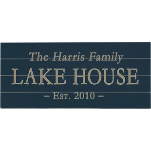 Personalized Lake House Textual Art Multi Piece Image On Wood