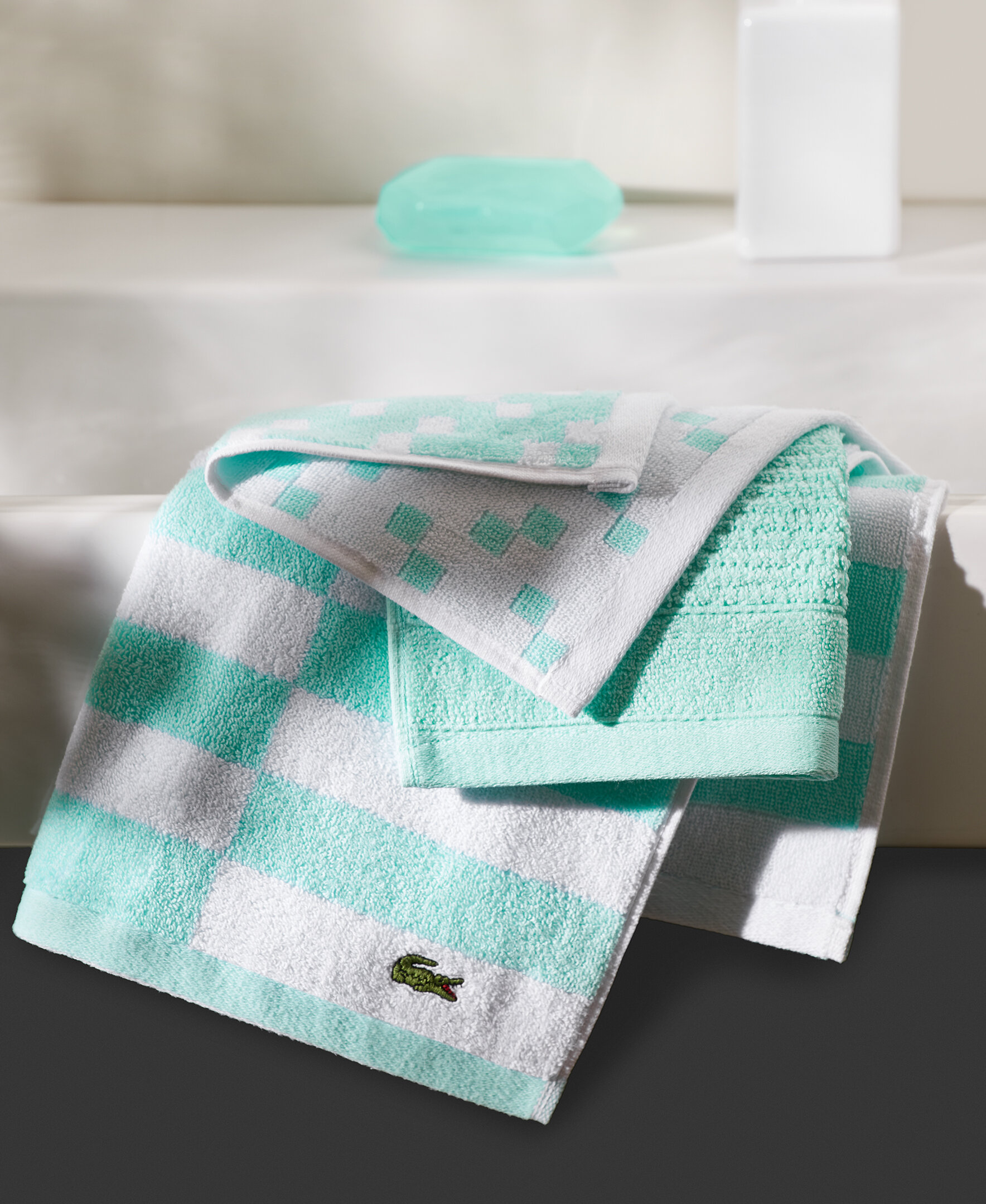 Lacoste Towels Clearance: Lacoste Mini Squares Lacoste 100% Cotton Hand Towel