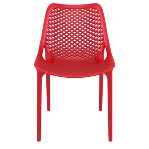 modern red outdoor dining chairs   allmodern