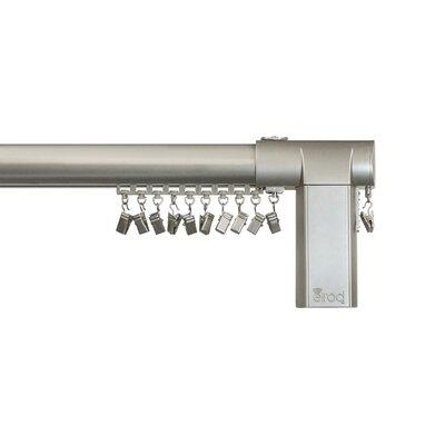 Beme International Motorized Erod Center Open Single Curtain Rod and Hardware Set Finish: Nickel, Size: 26 - 40 W
