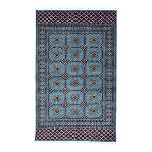 Ewan Oriental Hand-Woven Wool Blue Area Rug