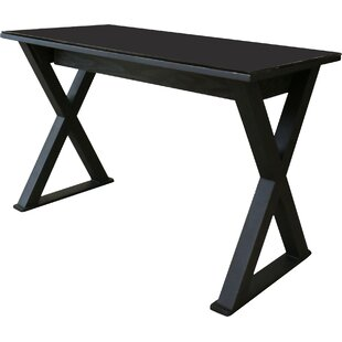 black glass desks - Black Writing Desk