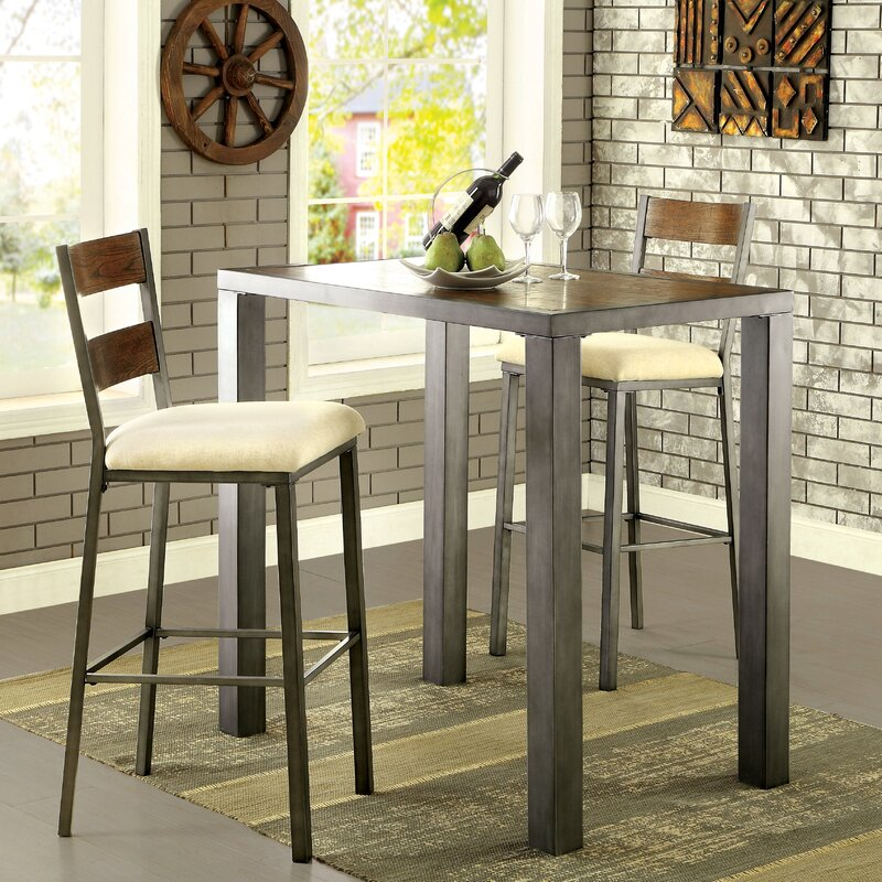 Red Barrel Studio Thurman 3 Piece Pub Table Set & Reviews | Wayfair
