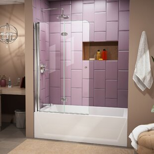 frameless door ideas elegant over with sizes of tub bathtub knowee luxury glass shower