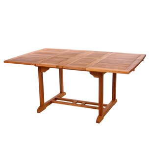 aston solid oak hidden mobel solid quickview extendable patio tables youll love wayfair