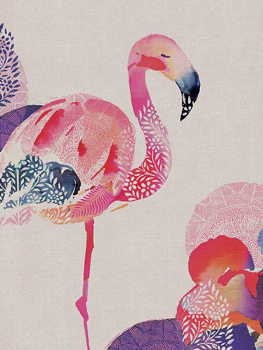Tropical Flamingo Canvas Wall Art
