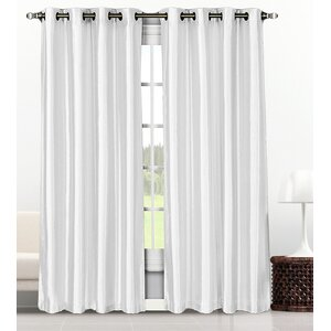 Baylee Solid Semi-Sheer Grommet Curtain Panel (Set of 2)