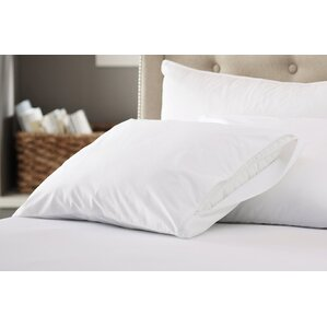 200 Thread Count Cotton Zippered Pillow Protector (Set of 2) by Alwyn Home