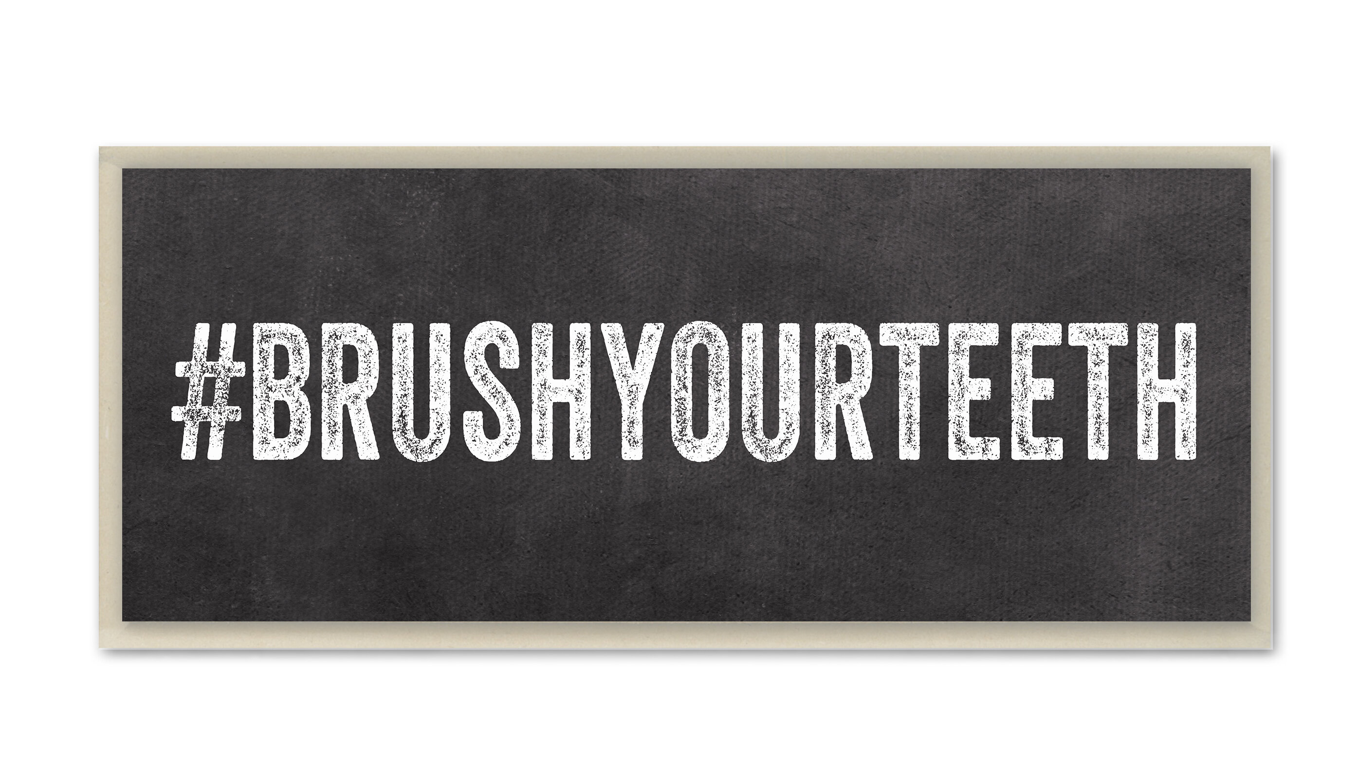 Stupell industries brush your teeth hashtag bathroom wall for Bathroom design hashtags
