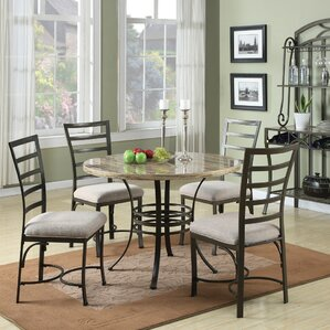 Rentchler 5 Piece Dining Set by Red Barrel Studio