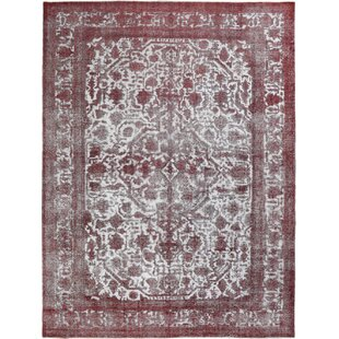 One-of-a-Kind Vintage Hand-Knotted Wool Red/White Area Rug By Wildon Home ®