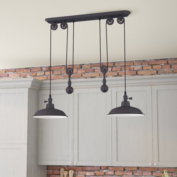 Kitchen Island Pendant Lighting: Trent Austin Design Ariel 2-Light Kitchen Island Pendant