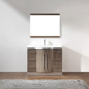 Dinara 42″ Single Bathroom Vanity Set with Mirror